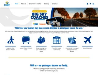 bigskycoaches.co.za screenshot