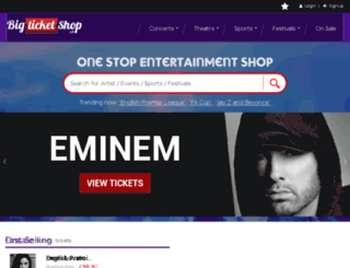 bigticketshop.co.uk screenshot