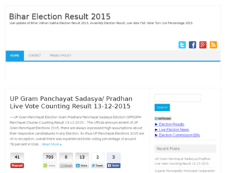 biharelectionresult.in screenshot