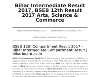 biharintermediateresults2017.in screenshot