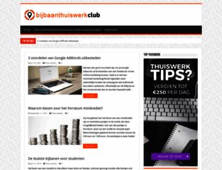 bijbaanthuiswerk.nl screenshot