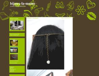 bijoux-la-mome.cowblog.fr screenshot