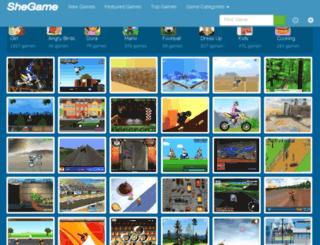bike-games.shegame.com screenshot