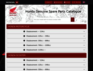 bike-parts-honda.com screenshot