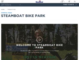 bike.steamboat.com screenshot