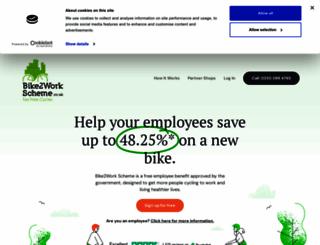 bike2workscheme.co.uk screenshot