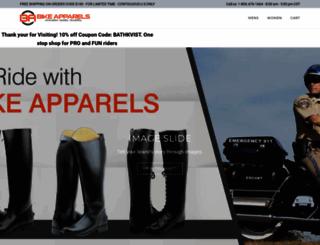 bikeapparels.com screenshot
