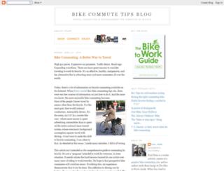 bikecommutetips.blogspot.com screenshot
