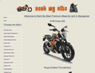bikeonrentinbangalore.com screenshot