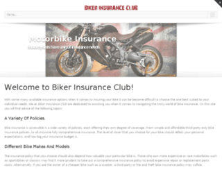 bikerinsurance.club screenshot