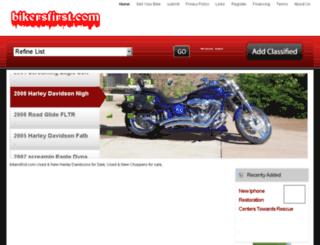 bikersfirst.com screenshot