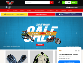 bikersgearaustralia.com screenshot