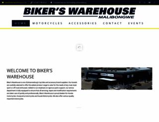 bikerswarehouse.co.za screenshot