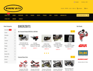 bikerzbits.co.th screenshot