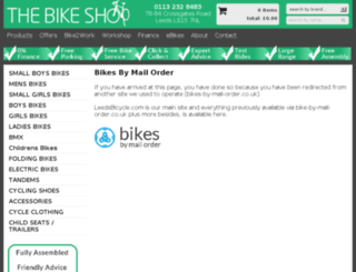 bikes-by-mail-order.co.uk screenshot