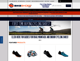 bikeshoes.com screenshot