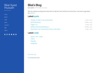 bilalh.github.com screenshot