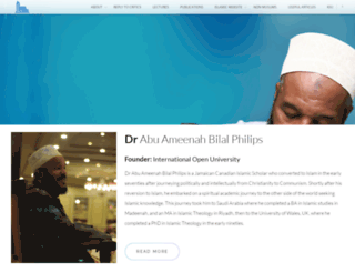 bilalphilips.com screenshot