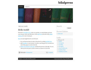 bilalpress.wordpress.com screenshot