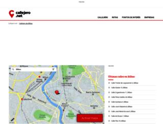 bilbao.callejero.net screenshot