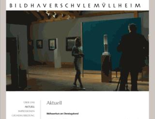 bildhauerschule.com screenshot