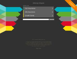 bildung-blog.de screenshot