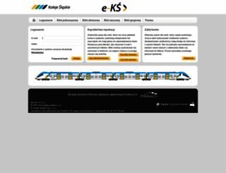 bilet.kolejeslaskie.com screenshot