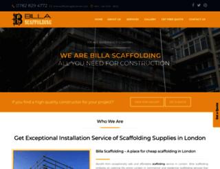 billascaffolding.uk screenshot