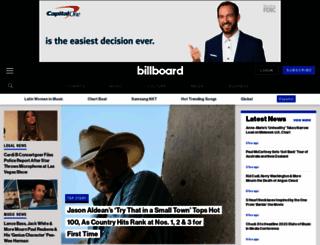 billboard.com screenshot