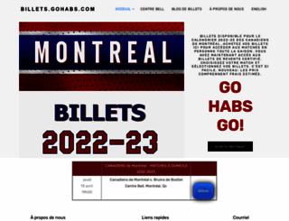 billets.gohabs.com screenshot