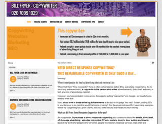 billfryercopywriter.co.uk screenshot