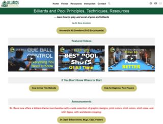 billiards.colostate.edu screenshot