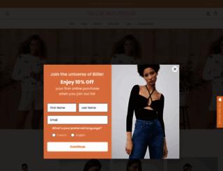 billieboutique.com screenshot