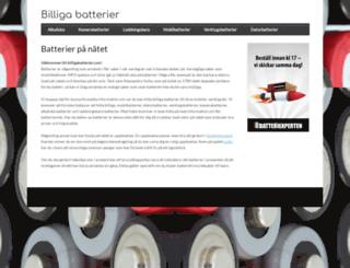 billigabatterier.com screenshot