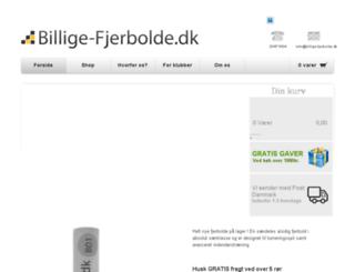 billige-fjerbolde.dk screenshot