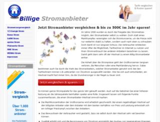 billigestromanbieter.net screenshot