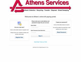 billing.athensservices.com screenshot