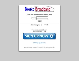 billing.brescobroadband.com screenshot