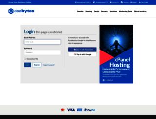 billing.exabytes.com screenshot