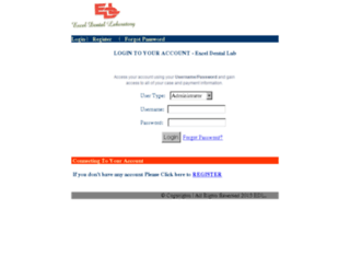 billing.exceldentallaboratory.com screenshot