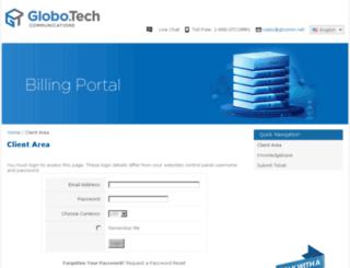 billing.gtcomm.net screenshot
