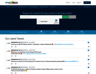 billing.infinityhosts.com screenshot