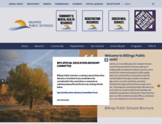 billingsschools.org screenshot