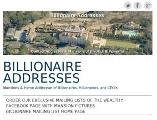 billionaireaddresses.wordpress.com screenshot