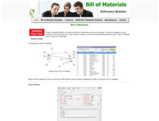billofmaterials.net screenshot