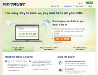 billscenter.paytrust.com screenshot