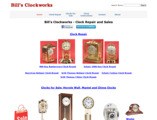 billsclockworks.com screenshot