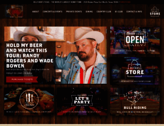 billybobstexas.com screenshot
