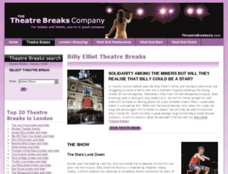 billyelliot.theatrebreaksco.co.uk screenshot