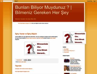 bilmenizgerekenhersey.blogspot.com screenshot